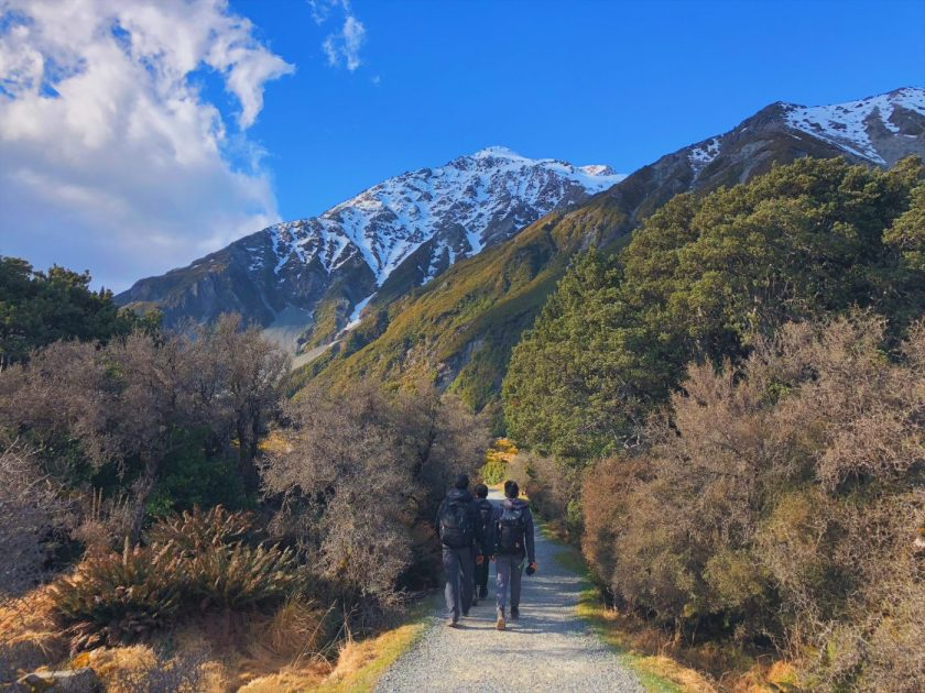 Entering Hooker Valley Track