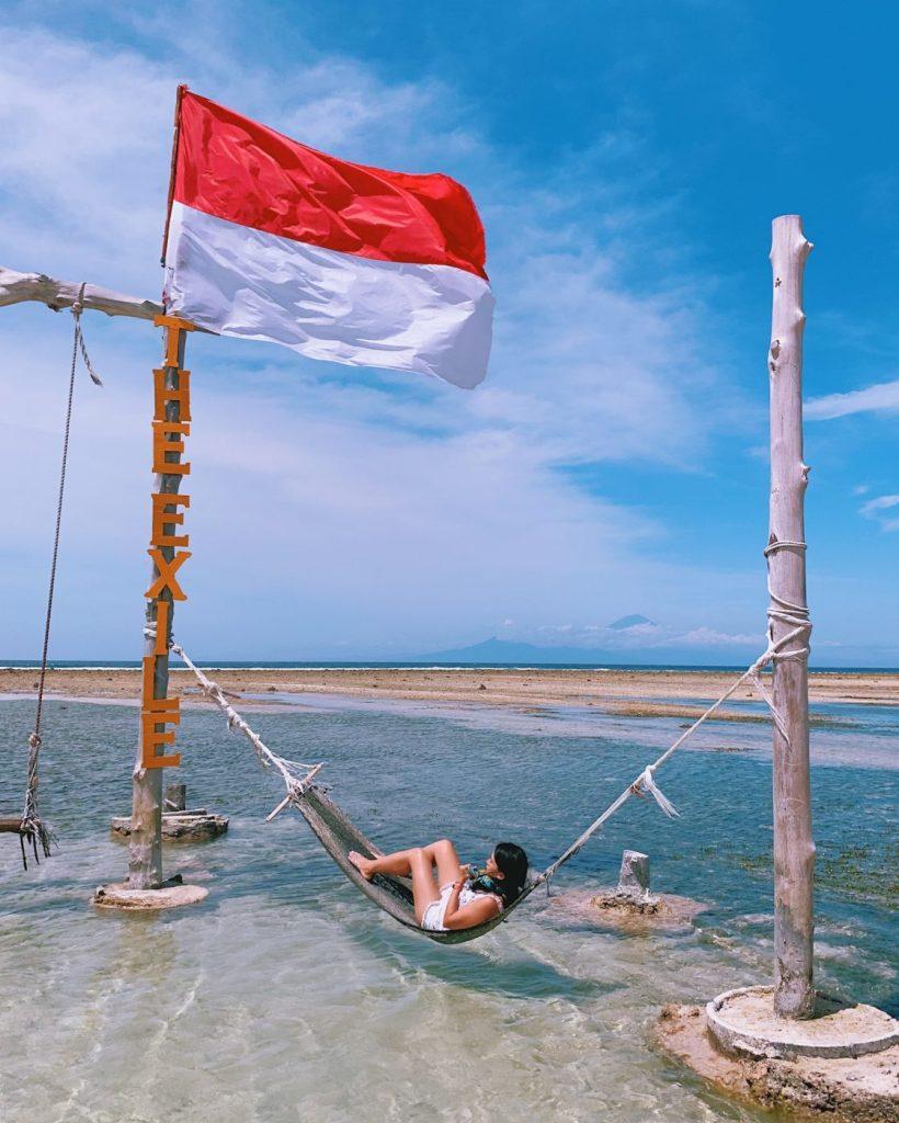 The Sea Hammock at The Exile in Gili Trawangan