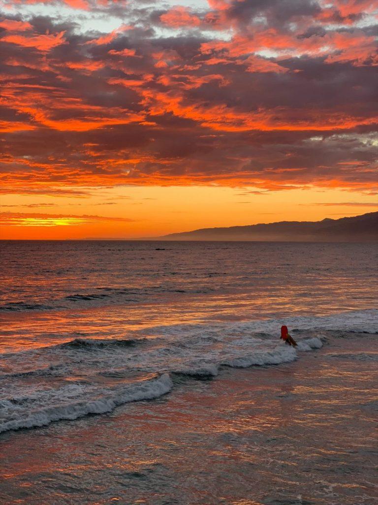 Sunset at Santa Monica Pier