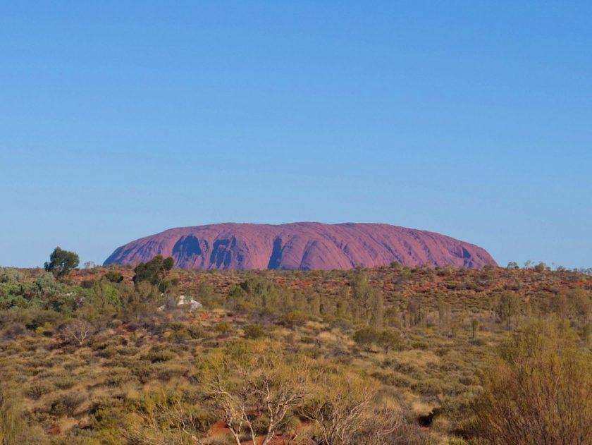 Uluru as seen from Yulara