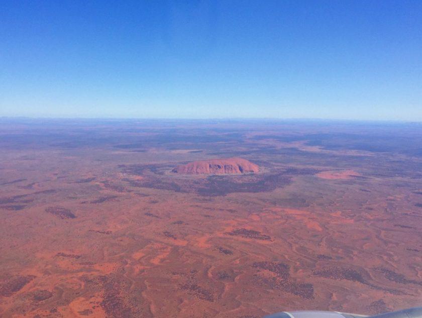 Uluru from above