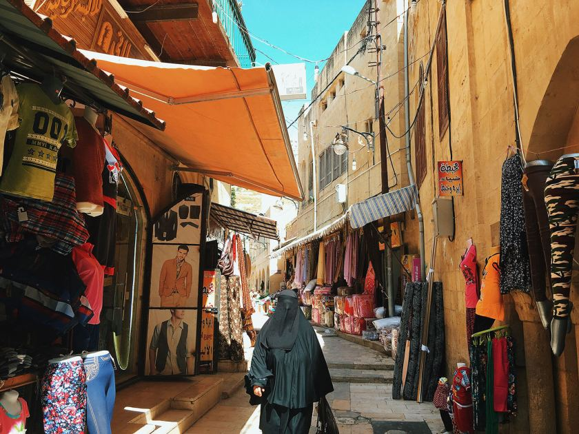 A Souk (Market) at the historical city As-Salt