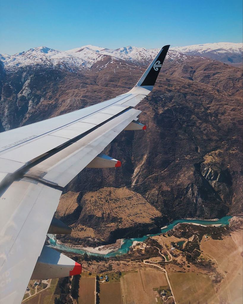 The view flying into Queenstown