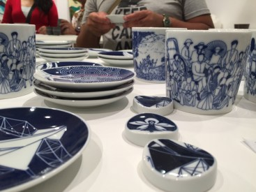 The main attraction was the porcelain wares- designed in Singapore and made in Japan.