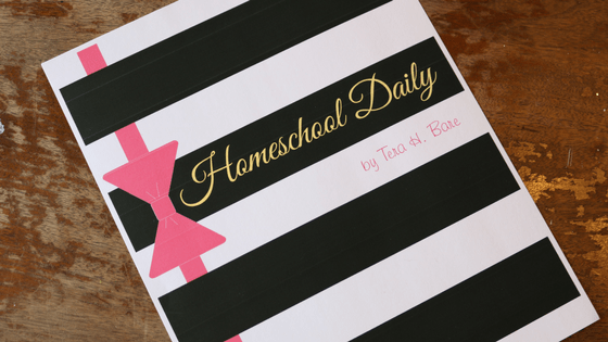 Check out My New Homeschool Planner!