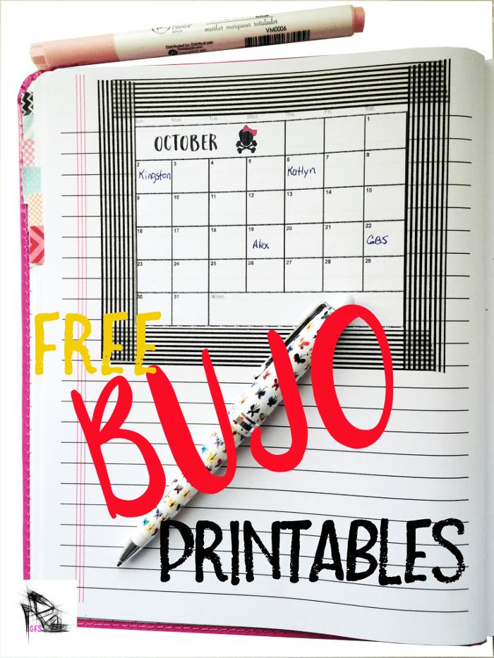 Free BUJO Printables