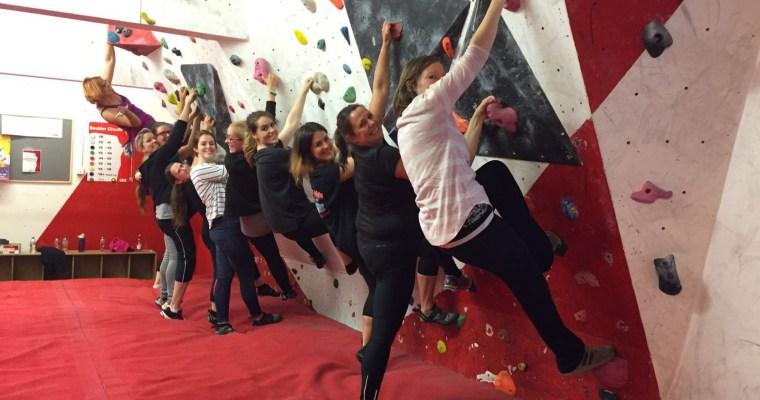 Women Climb – beginner rock climbing event