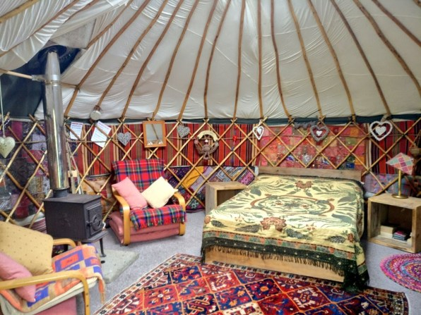 glamping in a yurt