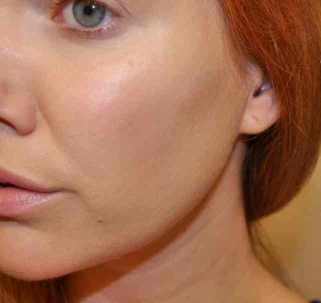 Skin with just Garnier Oil Control BB Cream in Light/Medium.