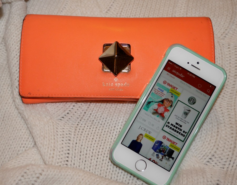 Shopping essentials: dolla-dolla-bills and the Shopular app.