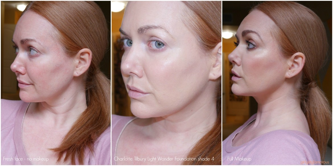 charlotte tilbury light wonder shade 4 swatch for dry mature skin