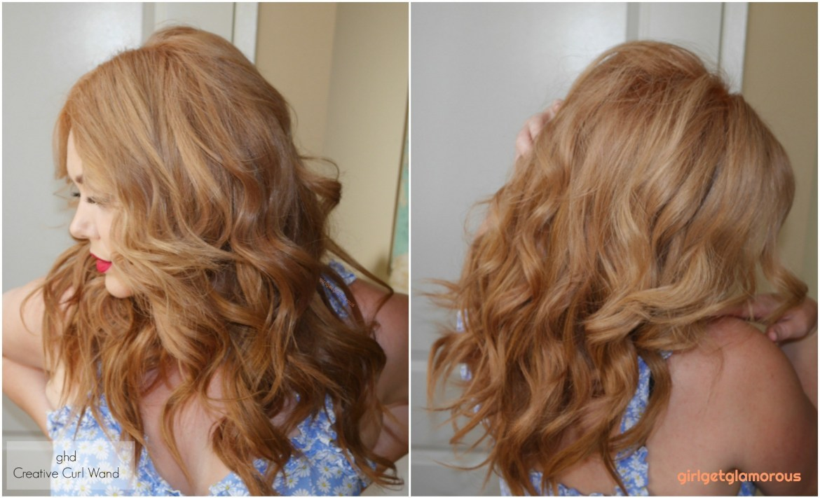 ghd creative curl results before after beach curls waves beauty blog best curler for my hair blogger