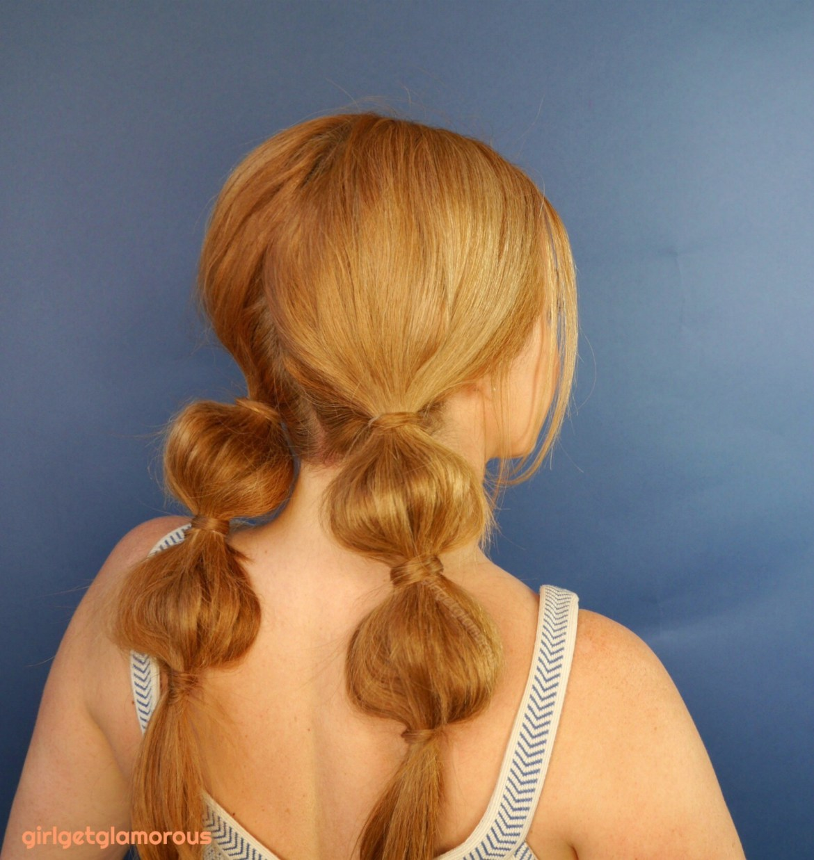 bubble braid pigtail hair tutorial easy quick best top strawberry blonde redhead blog blogger beauty makeup