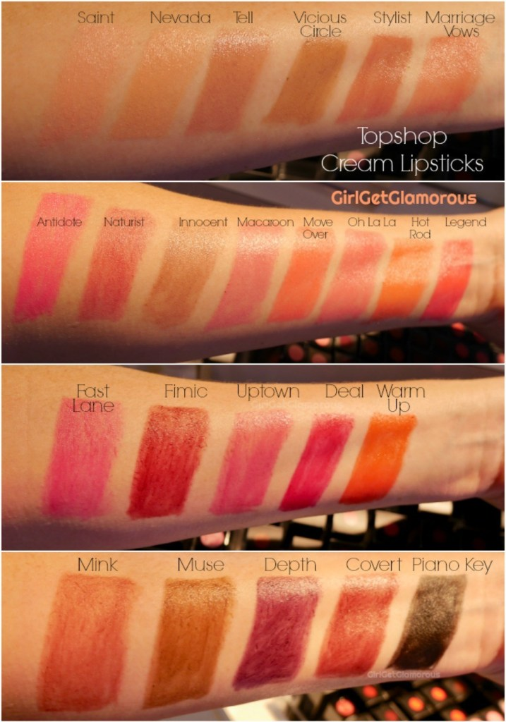 topshop cream lipstick lipsticks swatches 2019 relaunch best photo colors top beuaty blog blogger los angeles
