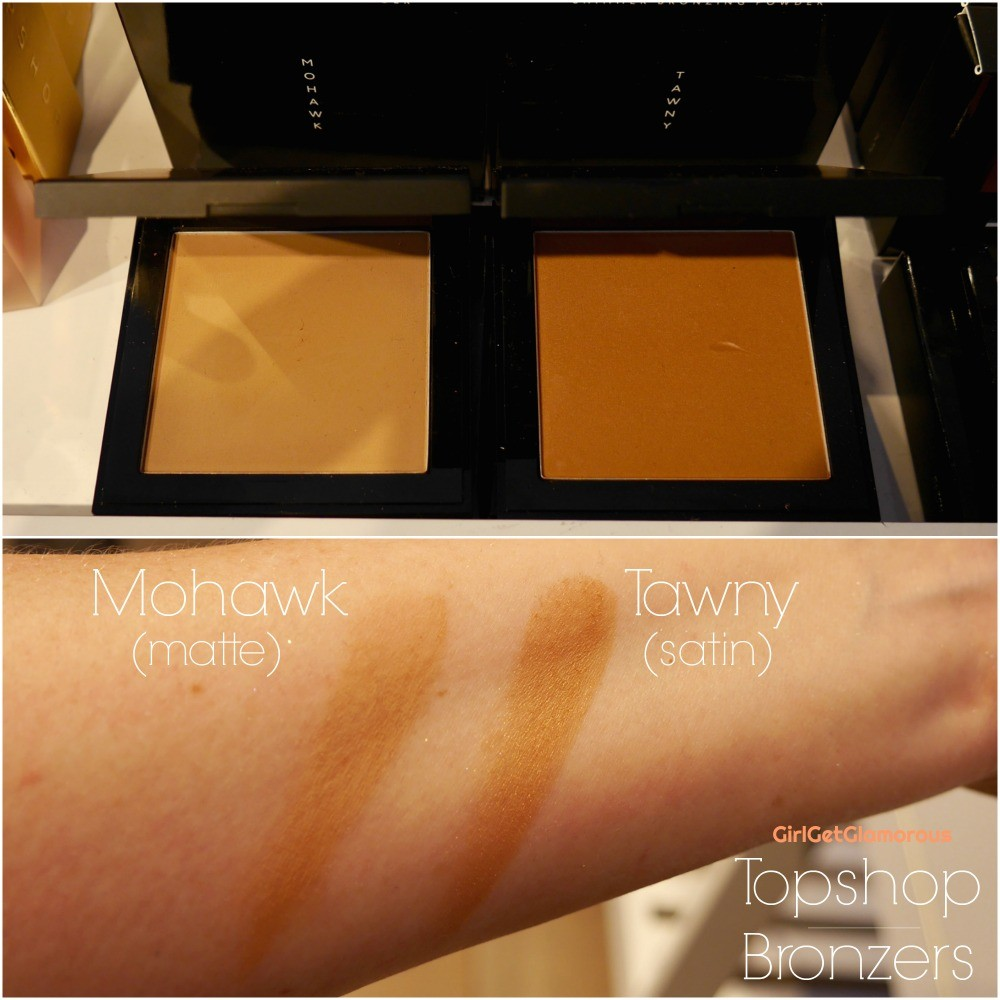 topshop bronzer swatches shades mohawk tawny