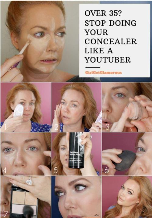 pictorial for how to do concealer over 35