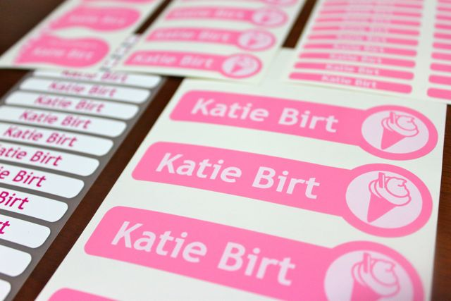 Name Labels For Kids Clothes Girl Gloss
