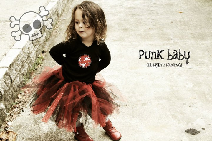 Children and Toddler Punk Clothes  Girl Gloss