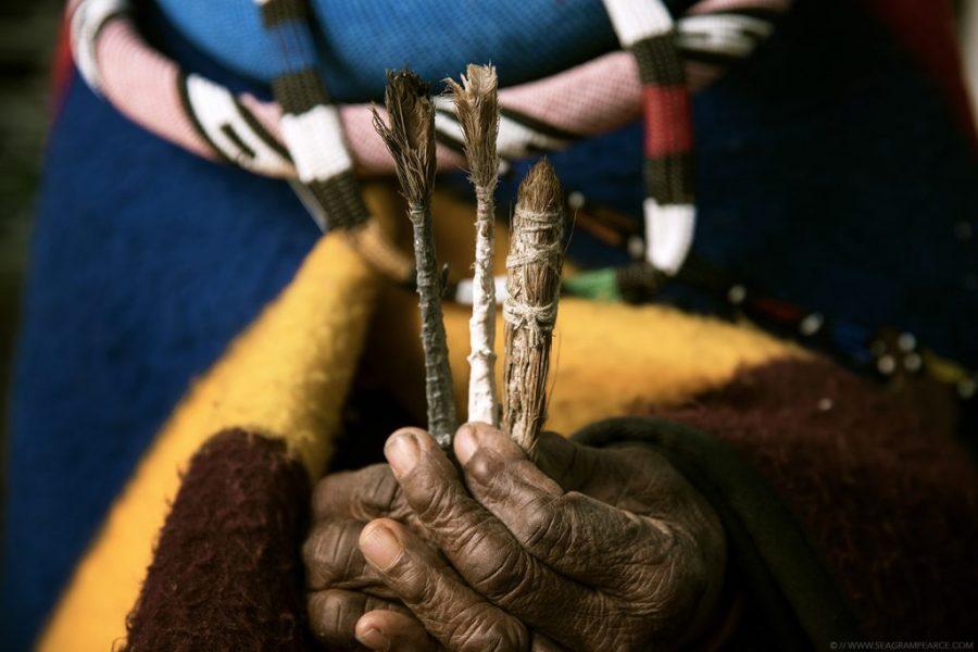 Esther Mahlangu paint brushes
