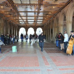 Entertainment under Bethesda Terrace