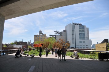 The High Line with The Whitney Museum overlooking it