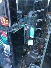 View of Times Square from our hotel room