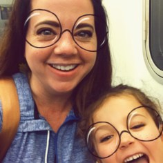 Snapchat filters for the win to pass time on the subway!