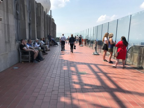 The lower observation deck of Top of the Rock