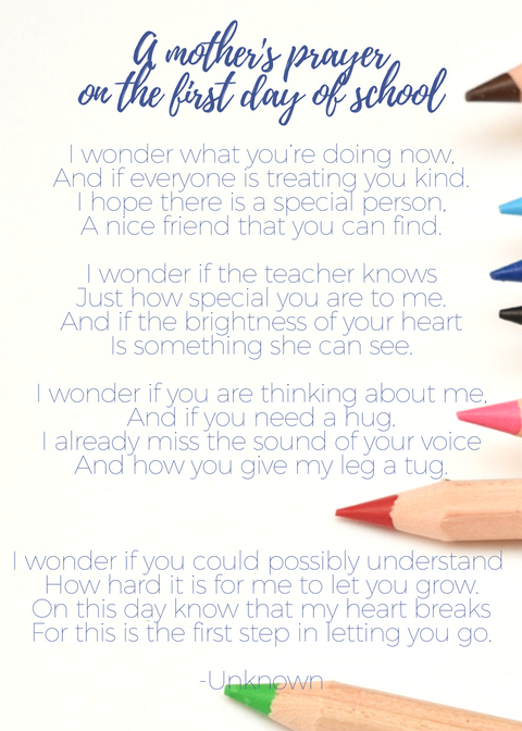 Back to School Bible Verses & a Mother's Prayer