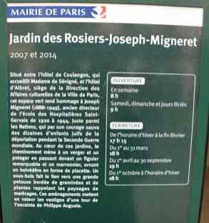Rue des Rosiers - Paris - Jardin des Rosiers