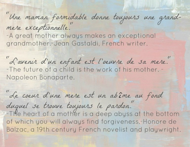 Mother's Day in France - Quotes