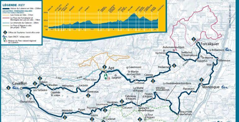 Colorado Provencal - Rustrel - Roussillon - Luberon Provence - Ochres - Biking
