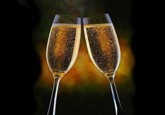 French Champagne - glasses clinking