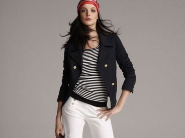 La Marinière - French Sailor's Shirt - with headscarf