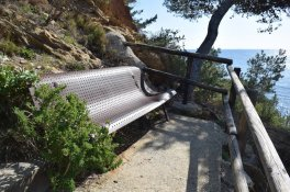 Provence's Blue Coast - bench with a view
