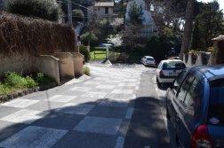 Provence's Blue Coast - checkboard road