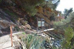 Provence's Blue Coast - Entrance to Côte Bleue path