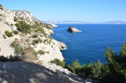 Provence's Blue Coast - view of Erevine Island
