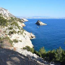 Provence's Blue Coast - view of Erevine Island