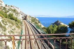 Provence's Blue Coast - train tracks