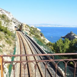 Provence's Blue Coast - train tracks