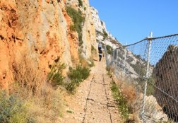 Provence's Blue Coast - path along train tracks