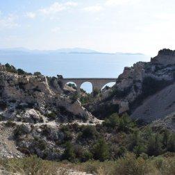 Provence's Côte Bleue - Niolon - viaduct in the distance