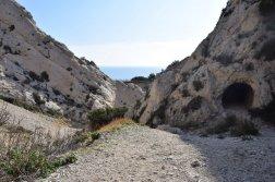 Provence's Côte Bleue - stone tunnel by Calanque d'Erevine