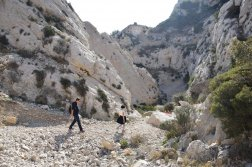 Provence's Côte Bleue - rocky stone trail to Calanque d'Erevine