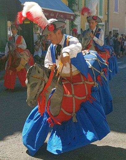 Horse costume - Provences Cherry Festival - La Roque d'Anthéron