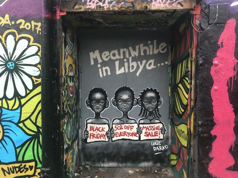 Parisian Street Art - Meanwhile in Libya - Black Friday