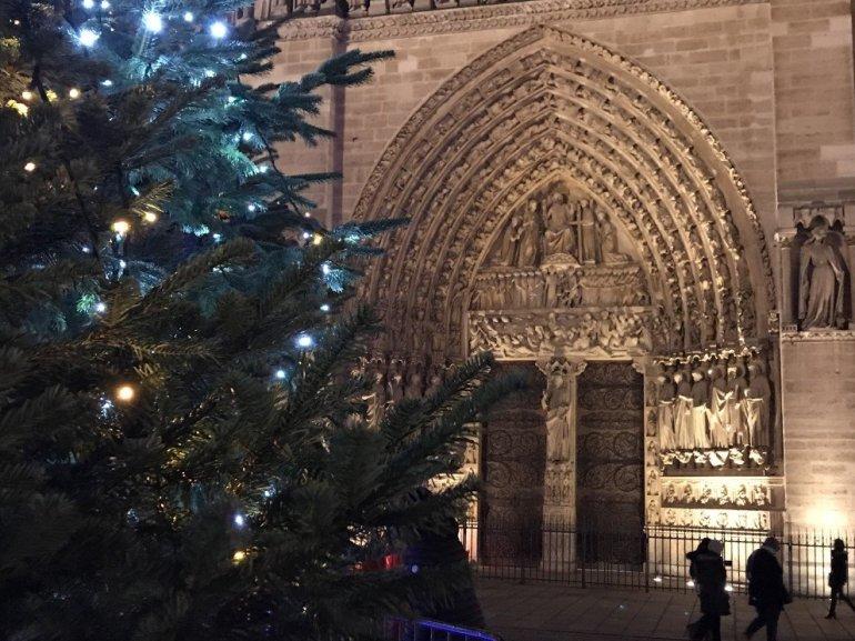 Paris Holiday Season - Notre Dame Entrance Doors