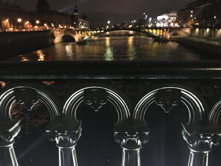 Parisian Holiday Season - reflections over the Seine