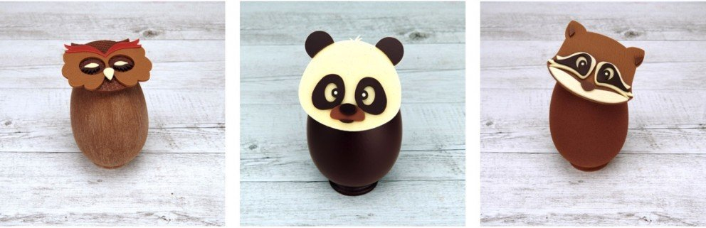 Joyeuses Pacques - Happy Easter - Chocolate Animals